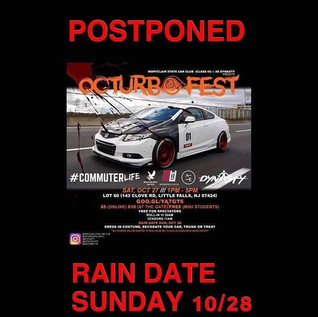 ⚠️We will be Rescheduling our event to the rain date of October 28th‼️@aedynasty x @montclair_state_car_club Presents OcturboFest. A trunk or treat Halloween party car meet 🎃🎃🎃🔥🔥🔥😈. 100% of proceeds will be donated to Real House Inc, an organization in Montclair, NJ that provides temporary homeless housing & treatment for substance abuse. #GearheadsGiveBack 🙏🏼. EVENT LINK IN BIO‼️ ➖➖➖➖➖➖➖➖➖➖➖➖➖➖➖➖➖ #autoetiquette #Dynastycrew #staticstruggle #DrivenByUnity #Cambergang #StaynMoist #Slammed #stancenation #foreverslammed #formativefitment #canibeat #freshmeet #VorgedSociety #ProperFitment #SuperStreet #ImportTuner #SpeedHunters #StanceNation #StanceWorks #LoweredLifestyle #ModifiedSociety #Dapper #LoweredStandards #Stance_Daily #Follow #StancedShots