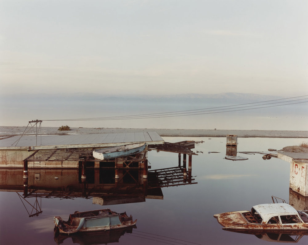 "Richard Misrach, ""Stranded Rowboat,"" Salton Sea, 1983"