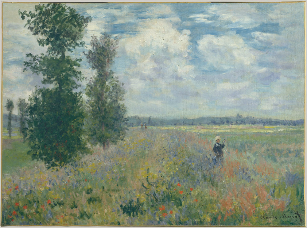 Claude Monet,  Poppy Fields near Argenteui l, 1875 @ The MET