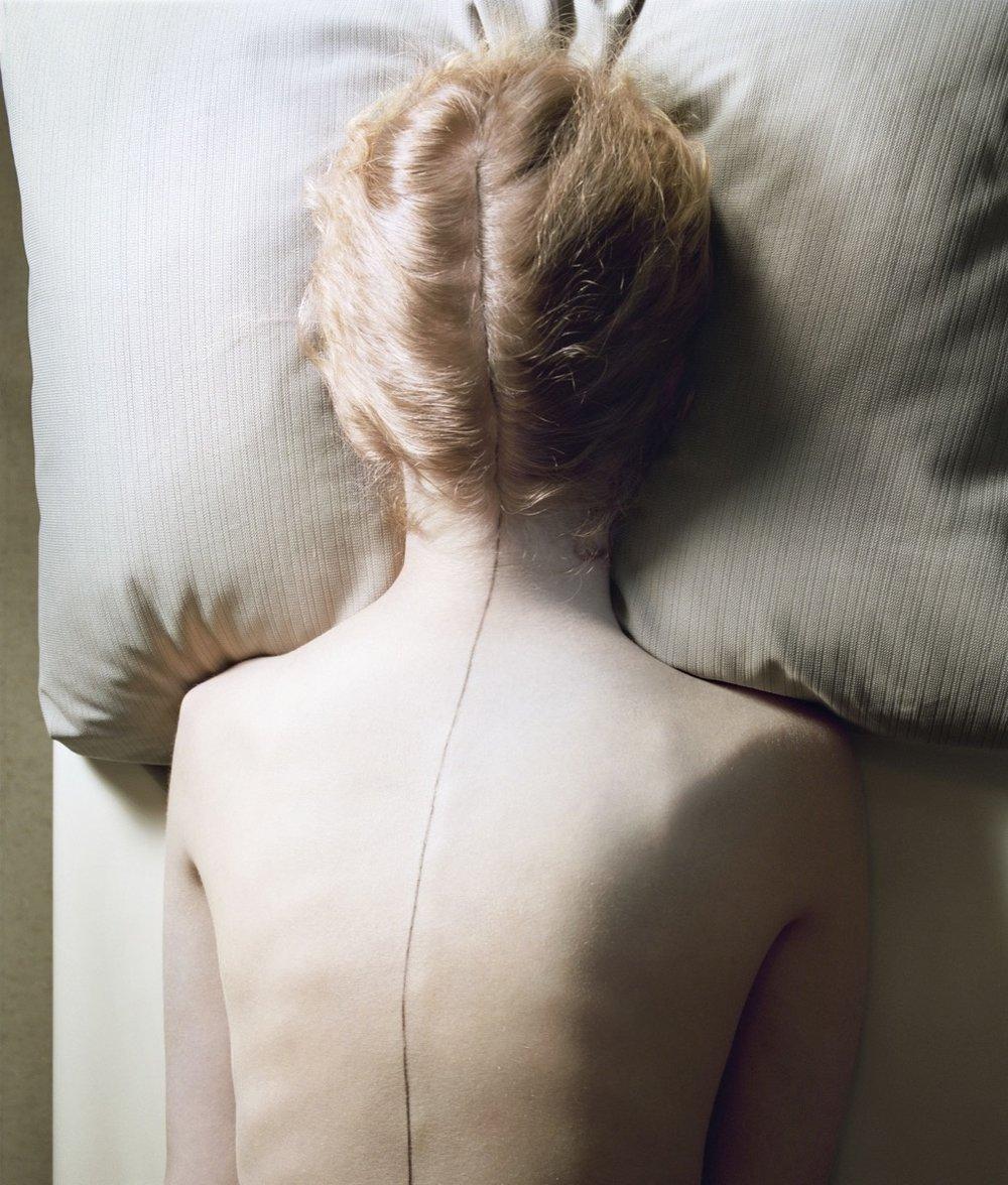 Jo Ann Callis, Woman With Black Line, 1976 Courtesy of Rose Gallery, Santa Monica