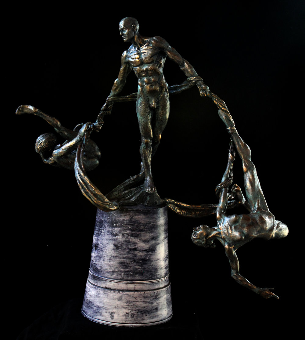 twistTrio , Bronze (cold cast bronze shown), 2017