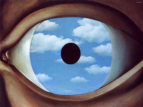 Rene Magritte,  The False Mirror,  1928