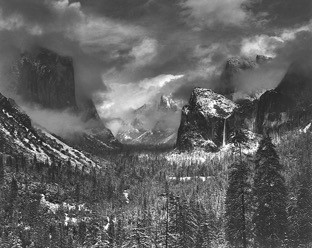 Clearing Winter Storm, Yosemite National Park  (1937)   On View