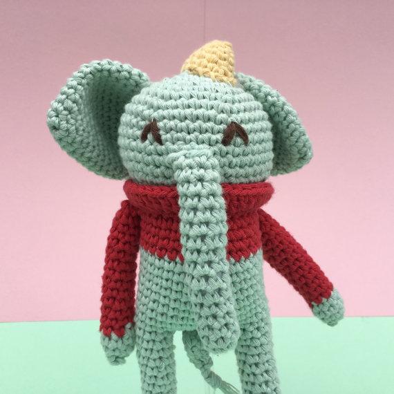 Plush elephant free pattern | Crochet elephant pattern, Crochet elephant, Amigurumi  elephant pattern | 570x570