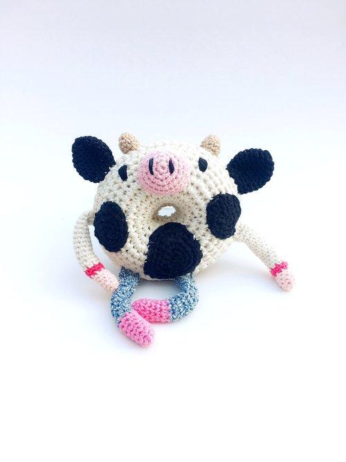 Moo Cow Crochet Donut Doll Flamingpot