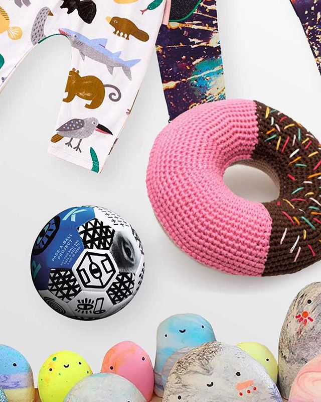 So thrilled to have our donut cushion amongst other gorgeous handmade❤️Inspiring Christmas gift for kids or home decoration at Melbourne @bigdesignmarket in less than 3 weeks 😊 📷 @bigdesignmarket