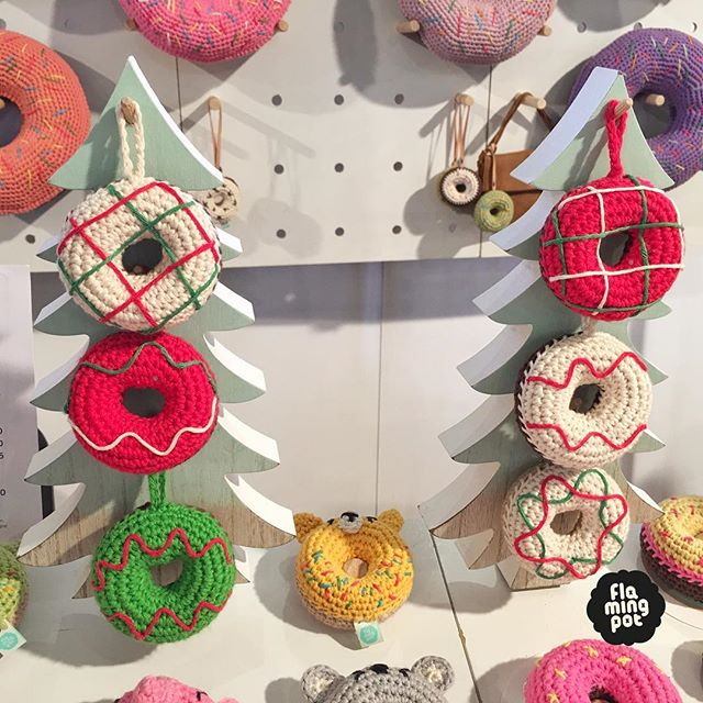 Ready for day 2 @bigdesignmarket , come and grab our limited edition Christmas donut ornament 🍩🎄