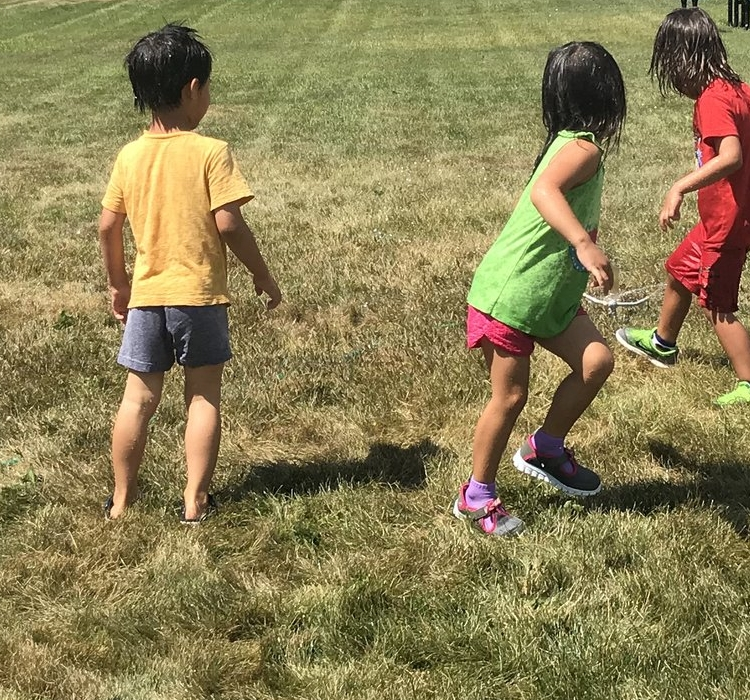Children Playing Outside