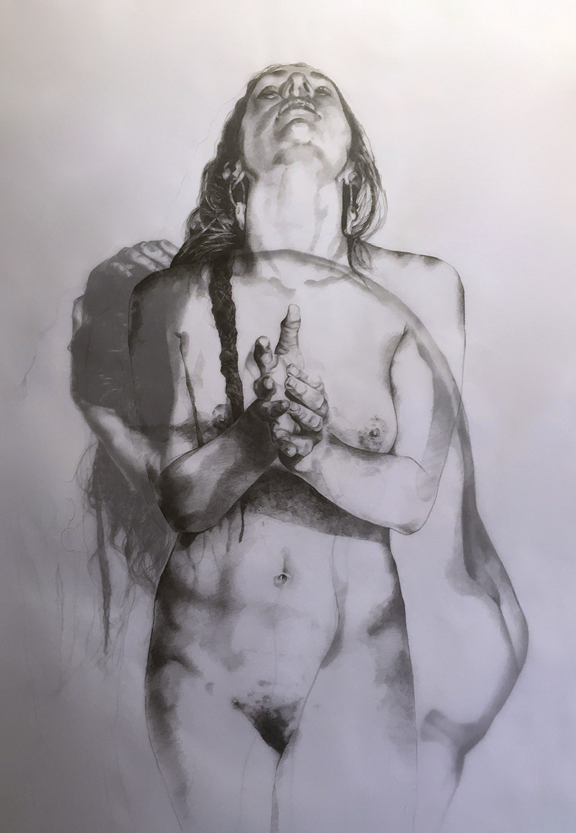"Winner of the 2016 Marie Ellis OAM Prize for Drawing, Michael Armstrong, ""Traits of the Living (Dying)"" 2016"