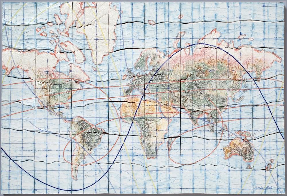 Satellite tracks
