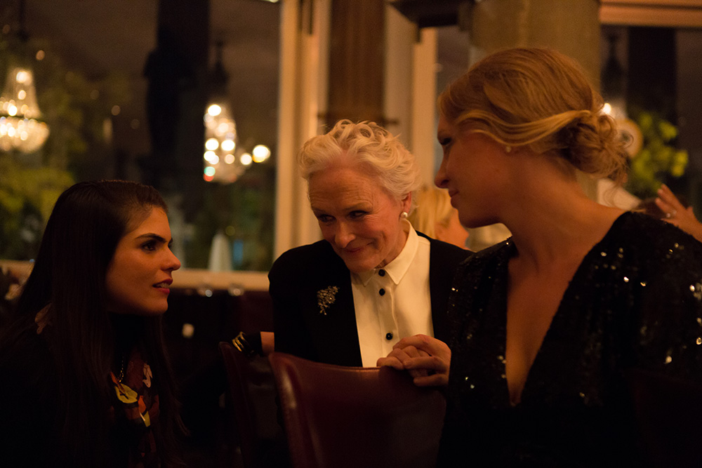 Glenn Close Zurich Summit Dinner, Restaurant Terrasse
