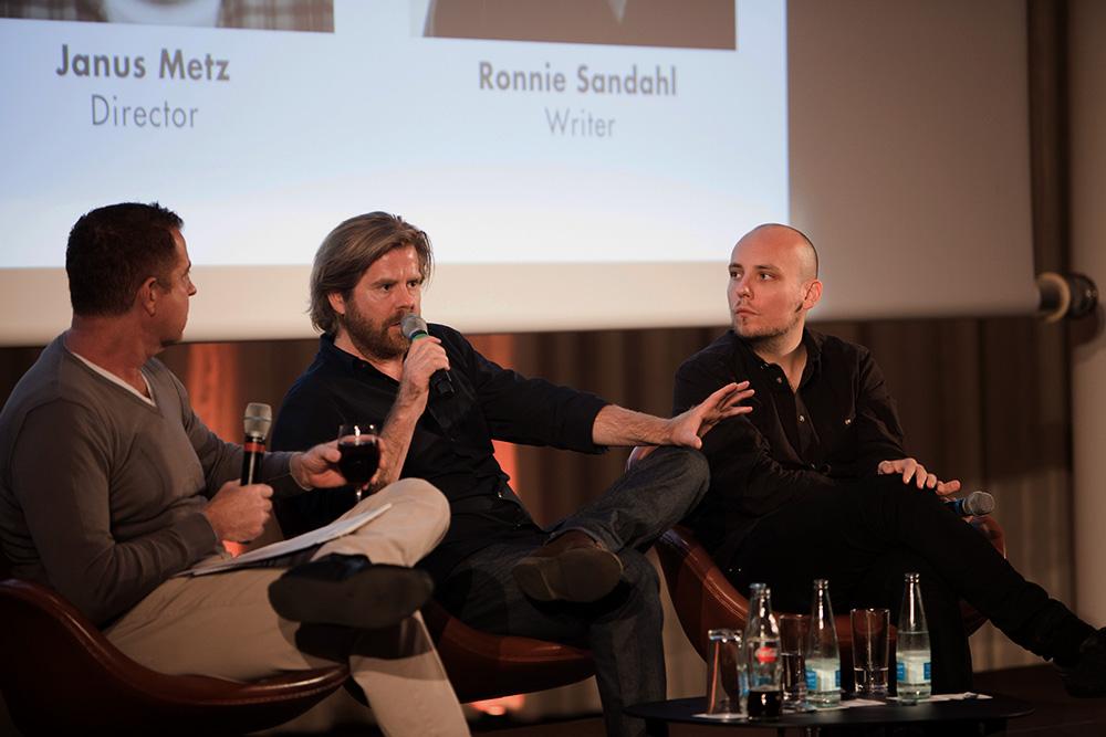 Robert Darwell (SheppardMullin), Janus Metz, Ronnie Sandahl (f.l.t.r.) A Conversation with Janus Metz and Ronnie Sandahl
