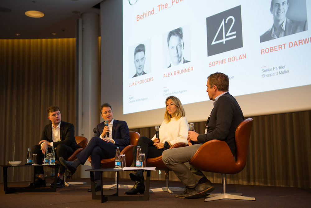 Behind the Powerful Agency Curtain Luke Rodgers (CAA), Alex Brunner (CAA), Sophie Dolan (42), Robert Darwell (Sheppard Mullin)