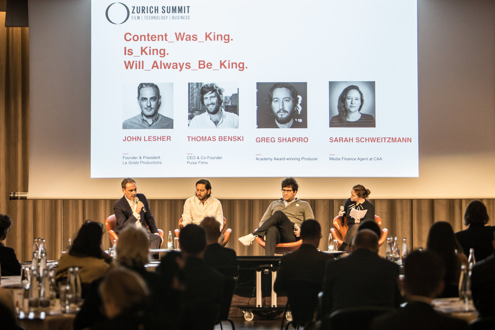 Content Was King. Is King. Will Always Be King. John Lesher (Le Grisbi Productions), Thomas Benski (Pulse Films), Greg Shapiro (Producer), Sarah Schweitzman (CAA)