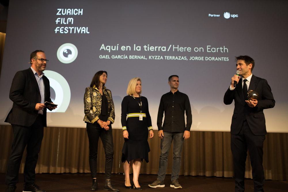 ZFF Series Award ZFF Series Jury, Stéphane Mitchell (Scriptwriter), Bea Hegedus (ITV Studios GE), Robert Franke (ZDFE.drama)
