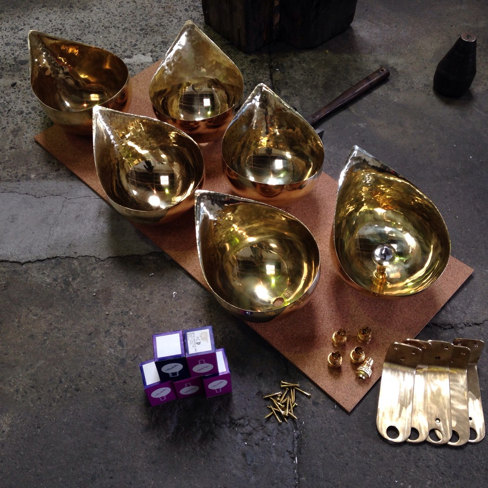 Brass lamps for Madame Woo in Hamilton
