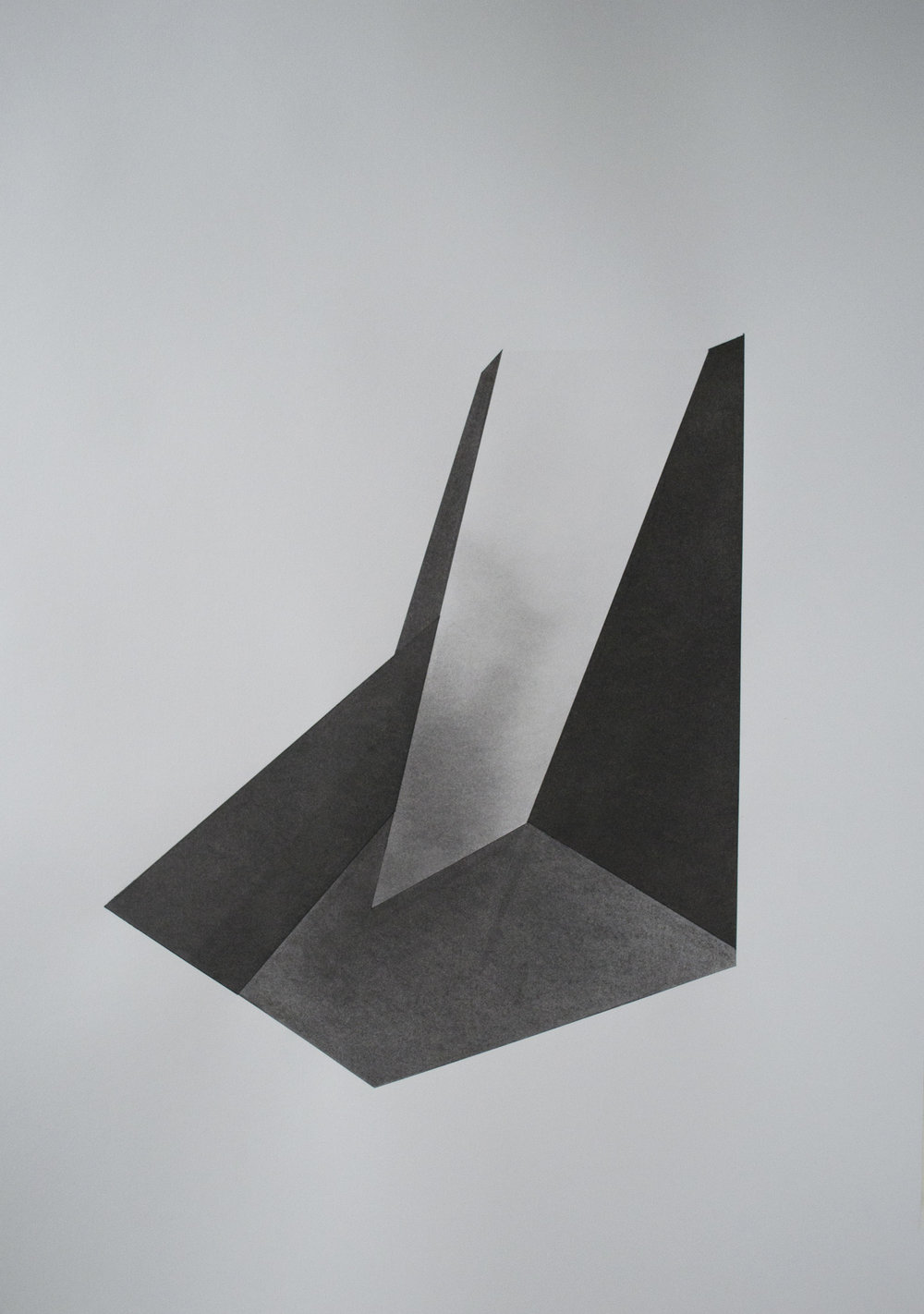Domestic geometry 3 charcoal on 300gsm paper Copyright Patrick O'Donnell.jpg