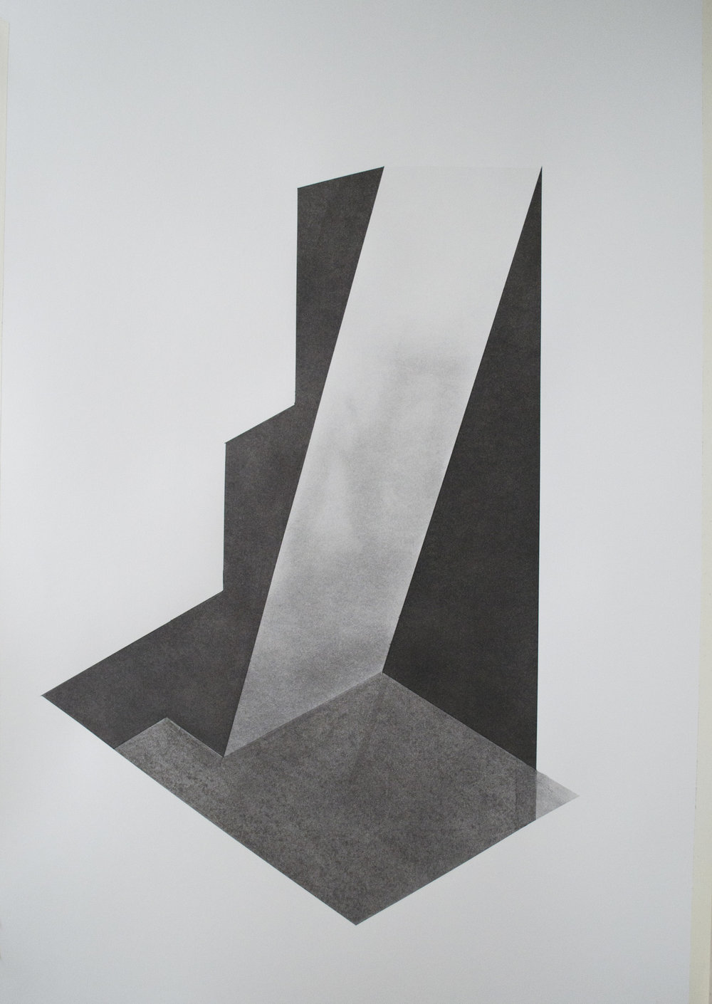 Domestic geometry 4 charcoal on 300gsm paper Copyright Patrick O'Donnell.jpg