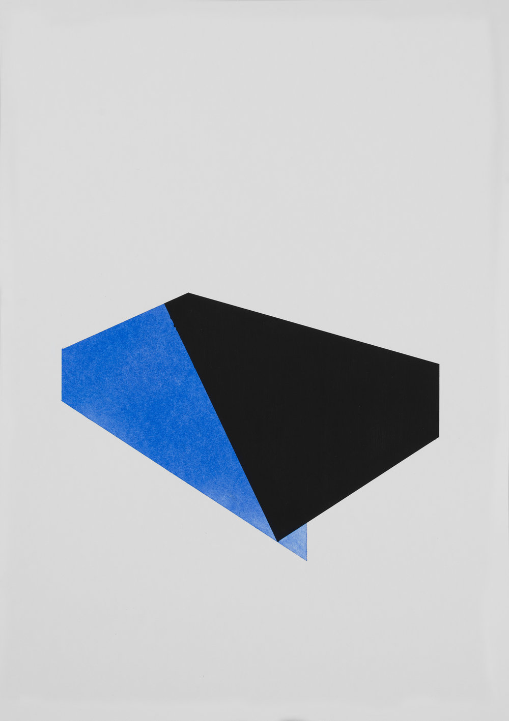 Over and above ultramarine, acrylic and pigment on 220gsm acid free paper, 42cm x 59cm, copyright Patrick O'Donnell