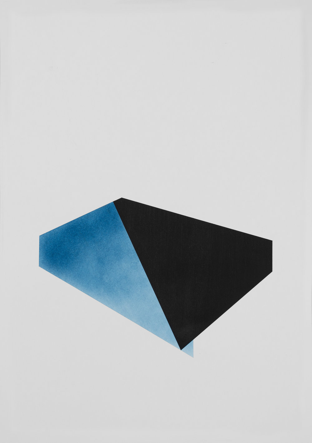 Over and above antwerp blue, acrylic and pigment on 220gsm acid free paper, 42cm x 59cm, copyright Patrick O'Donnell