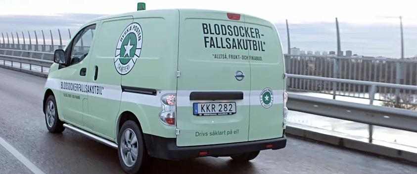 Blocksockerfallsakutbilen