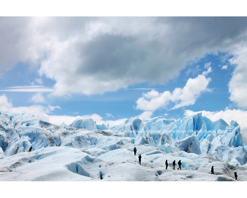 © Photo by Christina Drakos (EFIAP – RISF3) Trekking at Perito Moreno - Patagonia