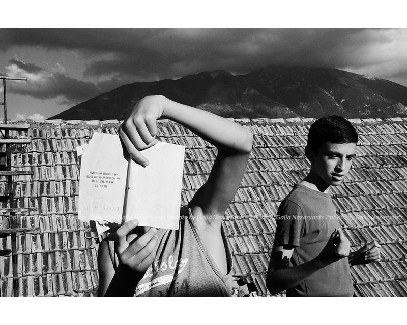 ©photo by Galia Nazaryants The book, Kukës, Albania 2014
