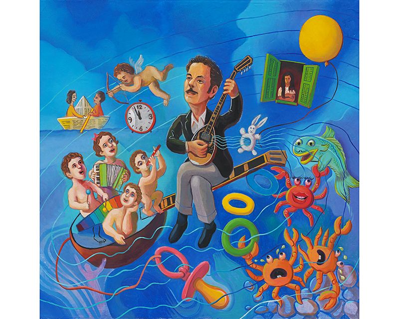 """Tsitsanis for infants"" by Spyros Chr Demetriades (for CD cover) - Limited edition Giclée Fine-Art Print"