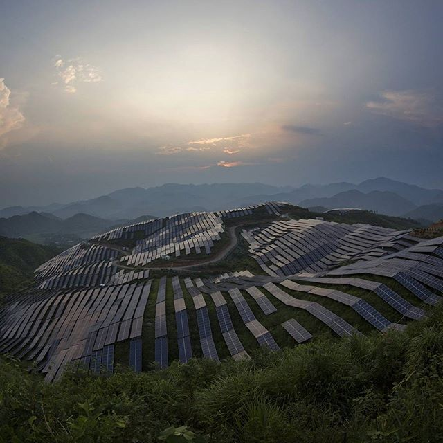 China is expected to build more than twice that global amount in the next five years, driven by its thirst for more electricity capacity, public anxiety over air pollution and the need to fulfil its climate change pledges.  Photograph: AP, The Guardian  #china #solarpower #solarpanels #renewableenergy #greenenergy #sustainability #ecofriendly