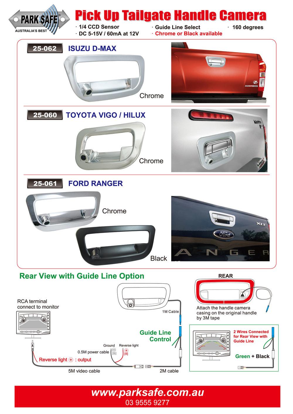 Tailgate Specific Model Cameras