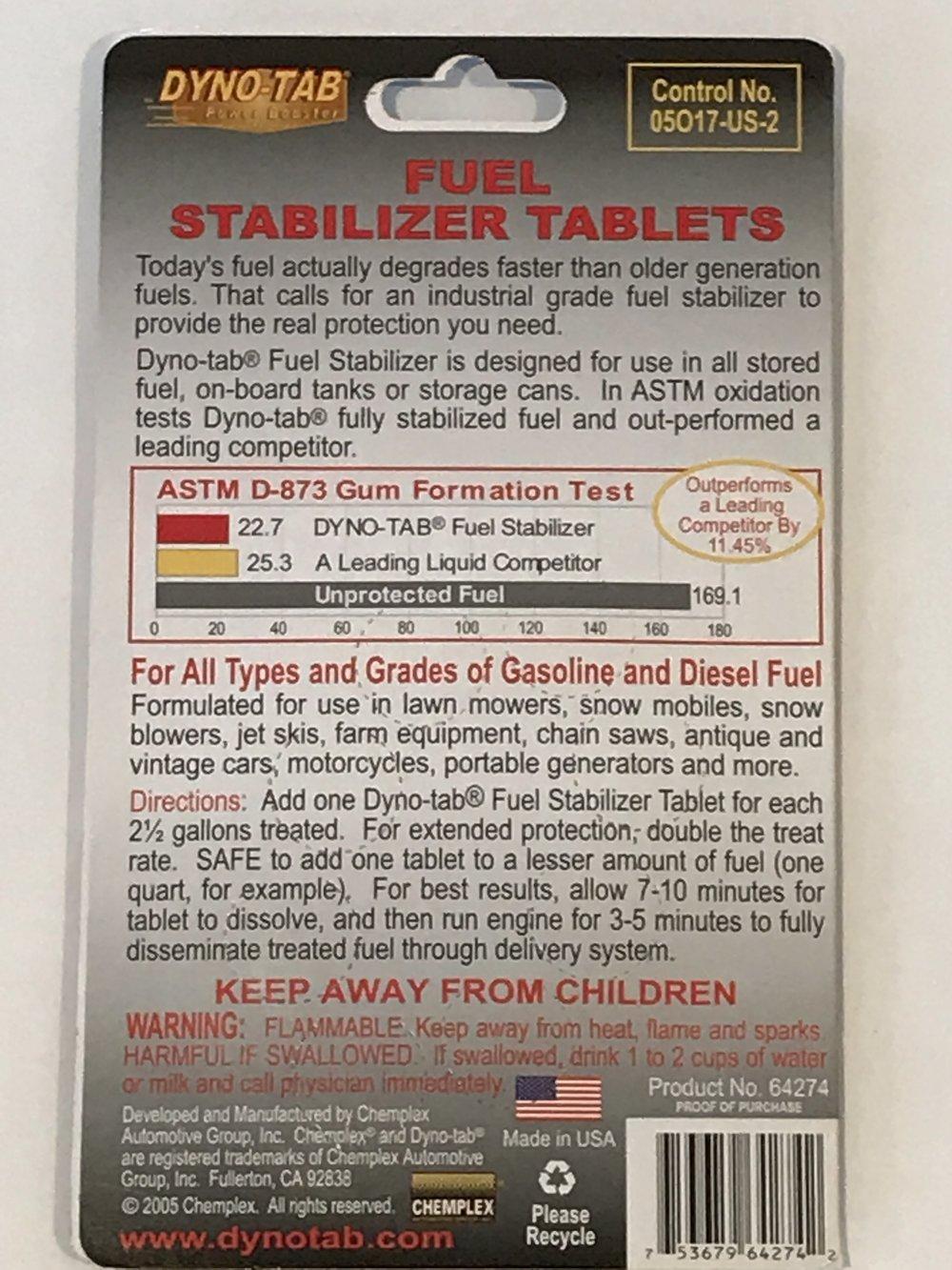 Petrol Preservative Tablets