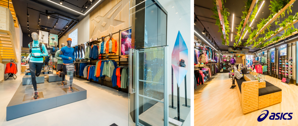 Asics, Sportswear, Retail Technology, Visual Merchandising