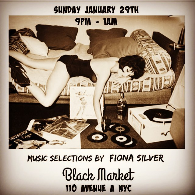 #tonite ! The lovely @fionasilver  will be #djing #atthebar from 9-1am ✨stop in before for #bottomless #sundaybrunch from 12-5pm /// #blackmarket #nyc /// #bestburger in #newyork /// #best #eggsbenedict in the #eastvillage