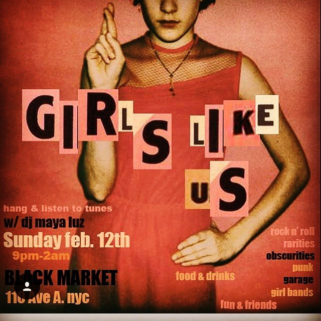 #DJ @mayaluz is BACK tonite , with a another installment of #girlslikeus .  #bottomlessbrunch from 12-5, then Maya starts #slayin @ 9 .  #kitchenopen til 2 ( always ) ♦️ #blackmarket #nyc ♦️ #bestburger in #newyork /// #eastville #newyorkcity