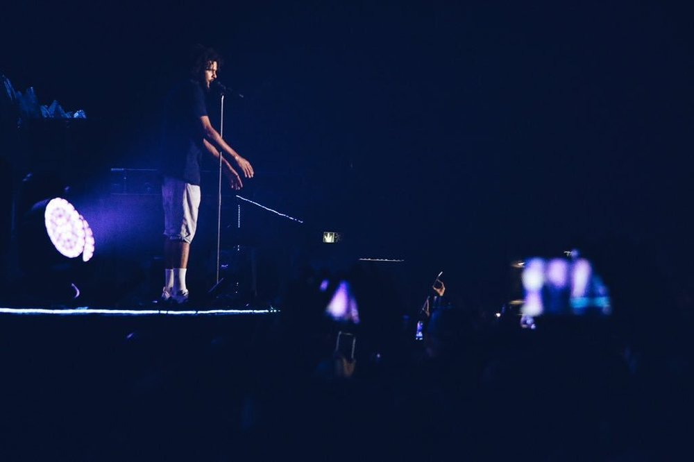 J. Cole performing live at the Ticketpro Dome in Johannesburg, South Africa 18th, June 2016