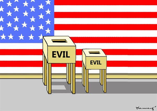 "Did the ""  lesser evil  "" win the U.S elections?"