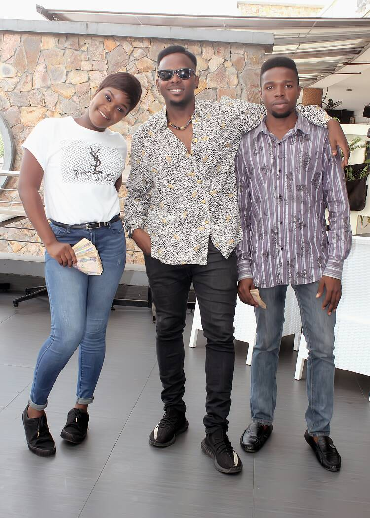 L-R: Maureen Omodia, Adegboyega and MC Goodness