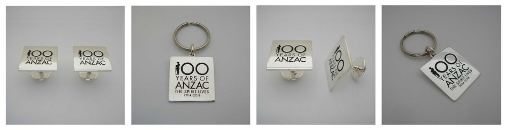 Commissioned by the Prime Minister of Australia and Cabinet and the Department of Veteran Affairs , to create Cuff Links and Key Rings for the 100 th ANZAC Commemoration .