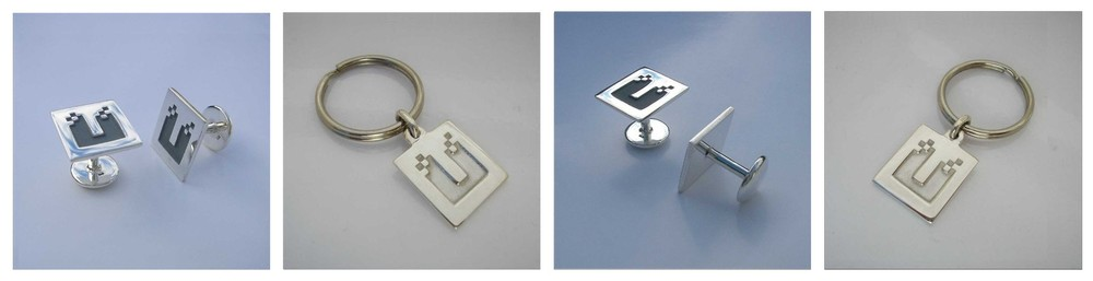 Cuff Links and Key Rings commissioned by the University of Western Australia for University Hall