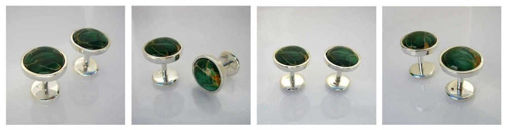 Rare Australian Variscite Cuff Links created for the Prime Minister and Cabinet of Australia
