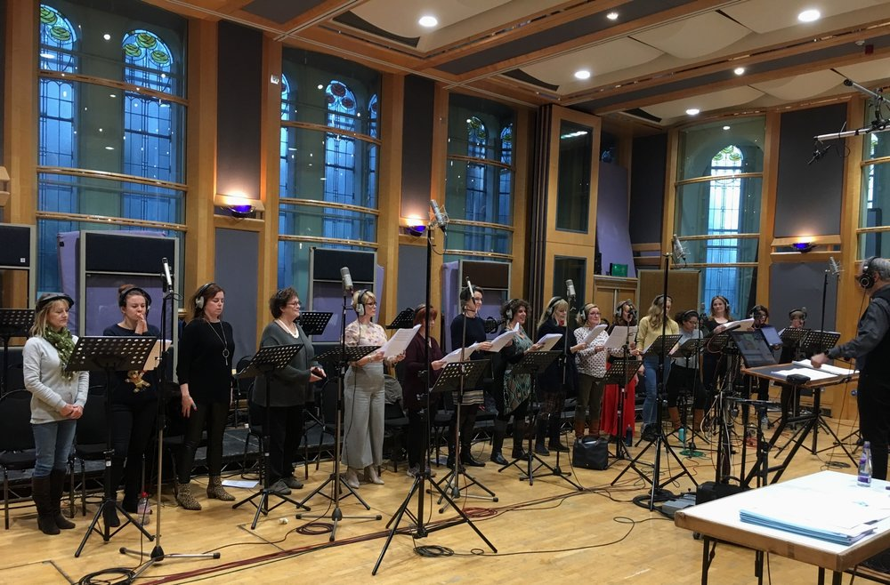 The ladies of Capital Voices recording for Aladdin Dec 18 Thanks for the picture Stephen Hill!