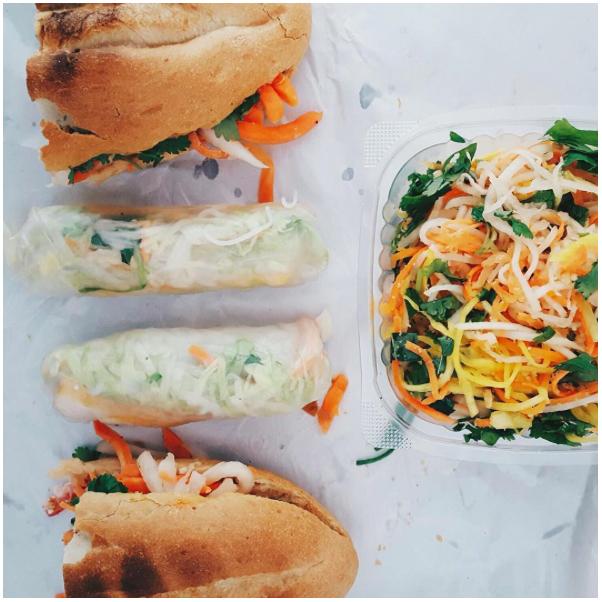 Sandwich & Sommerrollen vom Cô Cô bánh mì deli