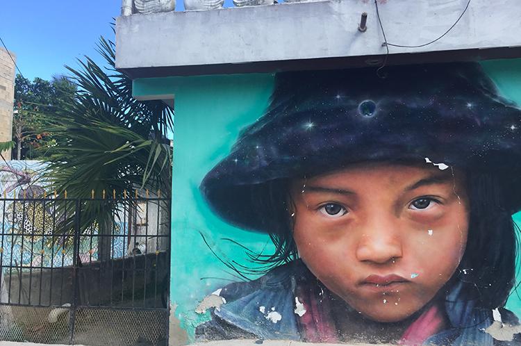 Graffiti Kunst auf Holbox
