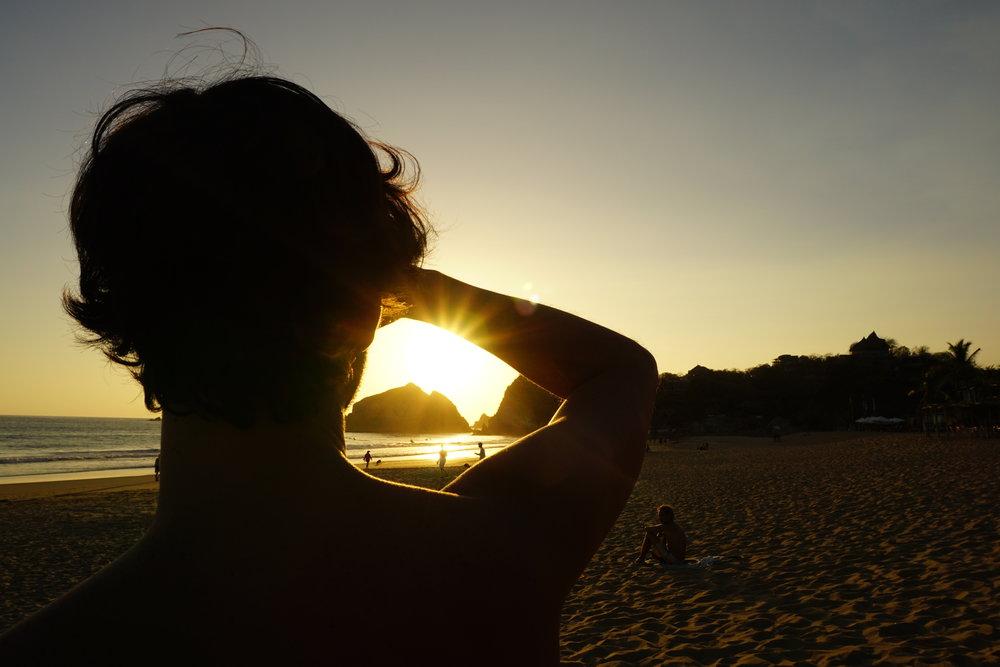 Sonnenuntergang in Zipolite