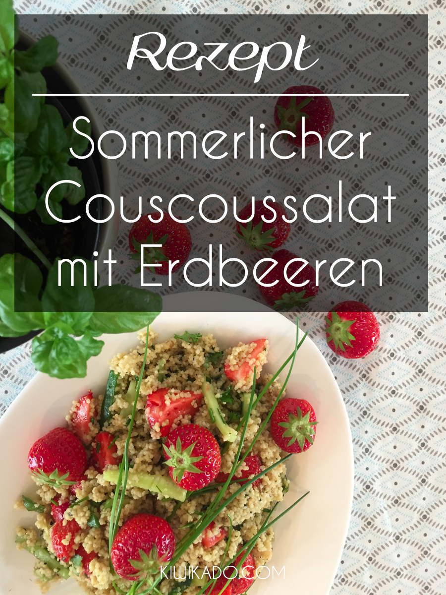 Couscoussalat mit Erdbeeren und Mandeln Pinterest