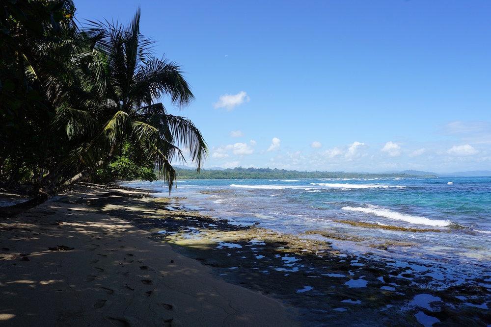Einsame Strände an der Karibikküste in Costa Rica