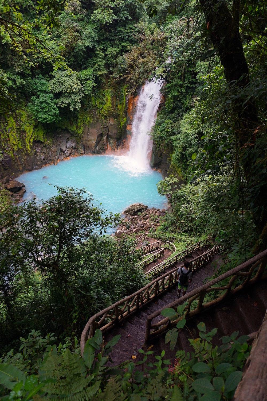 Rio Celeste Wasserfall Costa Rica