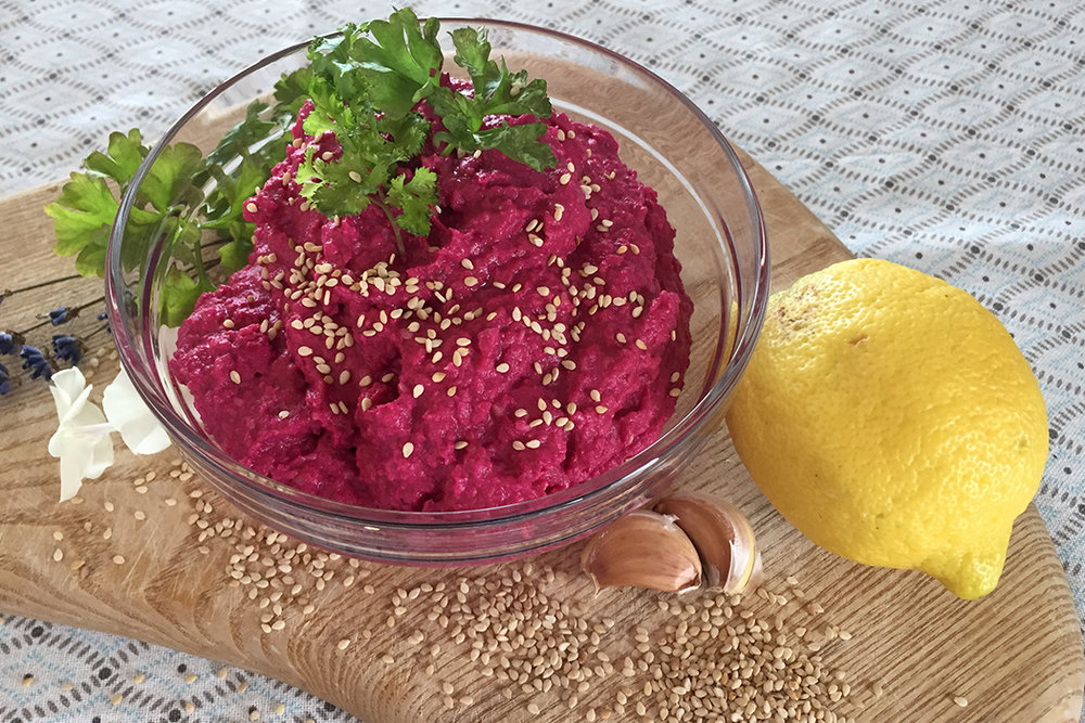 Hummus mit Roter Bete 2