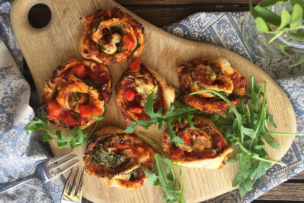 Vegane Pizzaschnecken 2