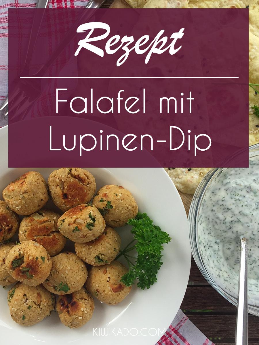 Falafel mit Lupinen-Dip Pinterest